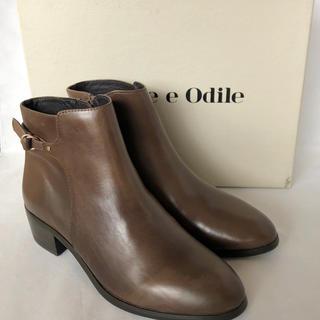 オデットエオディール(Odette e Odile)の新品未使用 Odette e Odile 本革 シングルベルトショートブーツ(ブーツ)