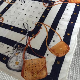 エムシーエム(MCM)のMCM ハンカチ マスク 鞄柄 ネイビー ボーダー メンズ(ハンカチ)