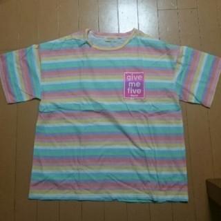 レピピアルマリオ(repipi armario)のレピピアルマリオ レインボー Tシャツ M パステル(Tシャツ(半袖/袖なし))