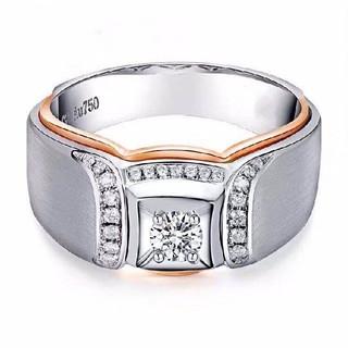 天然ダイヤモンドリング0.689ct k18(リング(指輪))
