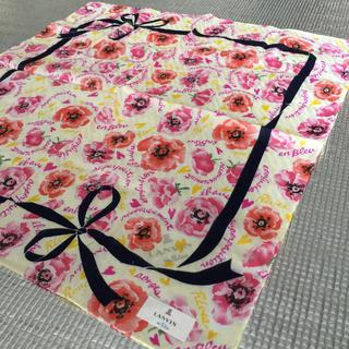 ランバンオンブルー(LANVIN en Bleu)のランバン ハンカチ 花柄 リボン マスク カラフル 黄色 ピンク スカーフ(ハンカチ)