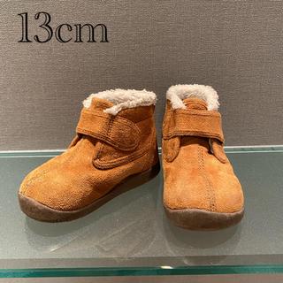 ムジルシリョウヒン(MUJI (無印良品))の無印 ベビー ハイカット ブーツ 茶 ボア 13cm(ブーツ)