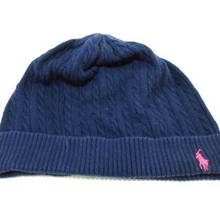 ラルフローレン(Ralph Lauren)のラルフローレン ニット帽 ネイビー(ニット帽/ビーニー)