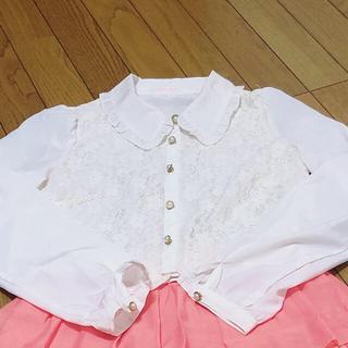 リズリサ(LIZ LISA)のレース 裾スカラップ ブラウス(シャツ/ブラウス(長袖/七分))