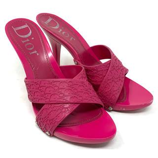 クリスチャンディオール(Christian Dior)のChristian Dior☆サンダル トロッター ピンク ラバー ハイヒール(サンダル)