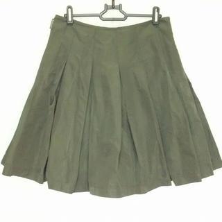 モンクレール(MONCLER)のモンクレール スカート サイズ42 L カーキ(その他)