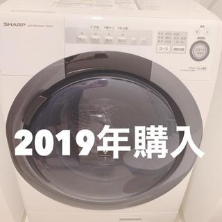 SHARP - 【長期保証有】SHARP ドラム式洗濯機 ES-S7C-WR