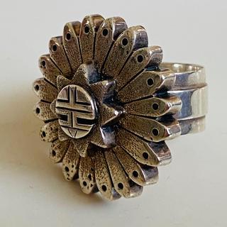ホピ族マーサスコインバの超レアなリング!size13.5-14.5号(リング(指輪))