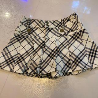 バーバリーブルーレーベル(BURBERRY BLUE LABEL)の美品バーバリブルーレーベル 36キュロットスカート(キュロット)