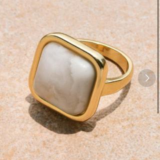 アネモネ(Ane Mone)のGOLDY ストーン スクエアリング(リング(指輪))