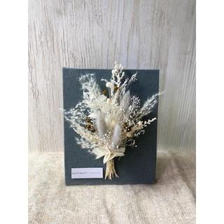 売り切れました✩Canvas frame flower gray 約15センチ(ドライフラワー)