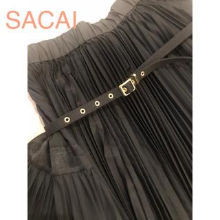 サカイ(sacai)のSACAI ベルトプリーツスカート(ロングスカート)