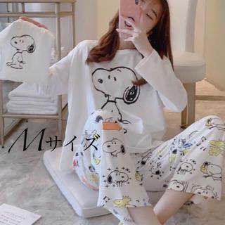 長袖パジャマ スヌーピー巾着付き Mサイズ(パジャマ)