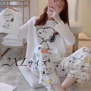 長袖パジャマ スヌーピー巾着付き 2XLサイズ(パジャマ)