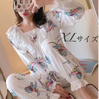 長袖パジャマ フリルダンボ XLサイズ(パジャマ)