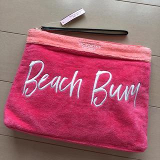 ヴィクトリアズシークレット(Victoria's Secret)のヴィクトリアシークレット クラッチ ハワイ ポーチ タオル地 ピンク バッグ(クラッチバッグ)