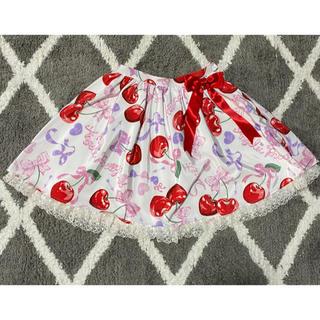 アンジェリックプリティー(Angelic Pretty)のWrapping Cherryスカート クリップ(ミニスカート)