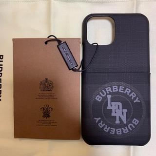 バーバリー(BURBERRY)の新品 BURBERRY ロンドンチェック iPhone 11 Proケース 黒(iPhoneケース)