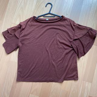 ジーユー(GU)のフリルスリーブT(Tシャツ(半袖/袖なし))