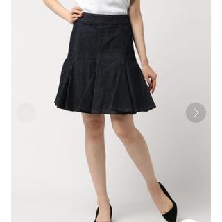 ランバンオンブルー(LANVIN en Bleu)の新品!デニムスカート(ひざ丈スカート)