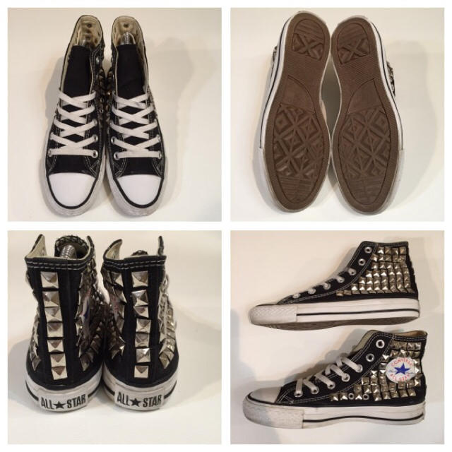 CONVERSE(コンバース)の23.5コンバースオールスタースタッズ黒 レディースの靴/シューズ(スニーカー)の商品写真