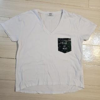ジェイダ(GYDA)のVネック Tシャツ gyda 白Tシャツ ビッグTシャツ(Tシャツ/カットソー(半袖/袖なし))