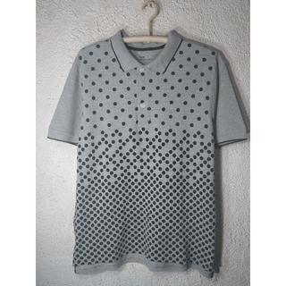 ギャップ(GAP)のo1293 Gap ギャップ 大きめコーデ 半袖 水玉 ドット 総柄 デザイン(ポロシャツ)