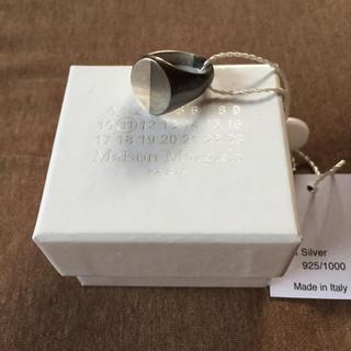 マルタンマルジェラ(Maison Martin Margiela)のL新品 メゾン マルジェラ メンズ ツートーン リング シルバー ブラック 指輪(リング(指輪))