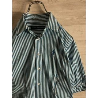 Ralph Lauren - RALPH LAUREN ワンポイント刺繍 ストライプシャツ
