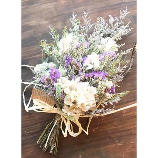 Light purple and hydrangea swagナチュラルスワッグ(ドライフラワー)
