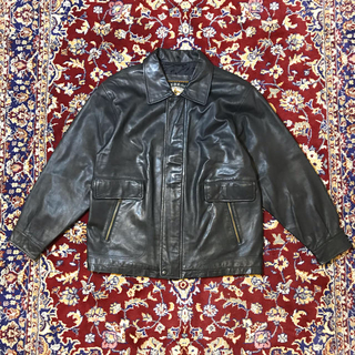 ジョンローレンスサリバン(JOHN LAWRENCE SULLIVAN)のUSA VINTAGE over-fit leather blouson(レザージャケット)