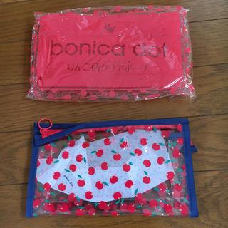 ボニカドット(bonica dot)のりんご柄 ポーチ bonica dot(ポーチ)