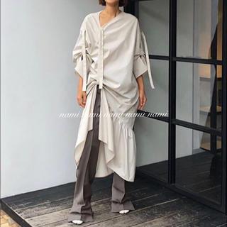 リステア(RESTIR)のIRENE Cotton Gather Dress 新品未使用(ロングワンピース/マキシワンピース)