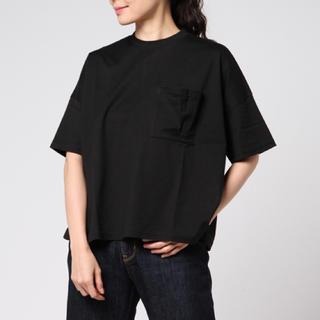エンフォルド(ENFOLD)のENFOLD スビン天竺 ポケット黒Tシャツ エンフォルド(Tシャツ(半袖/袖なし))