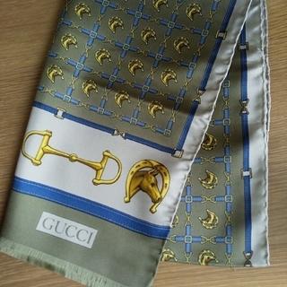 グッチ(Gucci)のGUCCI グッチ シルク ロング スカーフ (バンダナ/スカーフ)