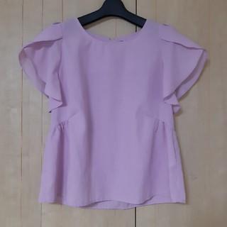 インデックス(INDEX)のindex チューリップ袖ぺプラムブラウス ピンク Mサイズ インデックス(シャツ/ブラウス(半袖/袖なし))
