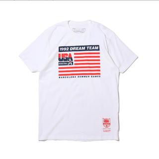 ミッチェルアンドネス(MITCHELL & NESS)の新品 Mitchell & Ness USAバスケットボール フラッグ Tシャツ(Tシャツ/カットソー(半袖/袖なし))