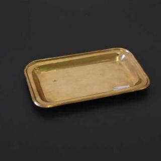 ビーカンパニー(B-COMPANY)の新品❤️インド ハンドメイド 真鍮 トレー リム ディスプレイ(小物入れ)