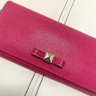 フルラ(Furla)の【SALE 値下げ中】美品‼️FURLA リボン付き長財布 ピンク(財布)