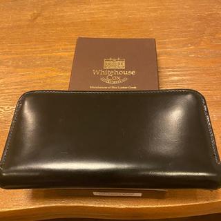 ホワイトハウスコックス(WHITEHOUSE COX)のホワイトハウスコックス 長財布 クリーナー付き ブラック(長財布)