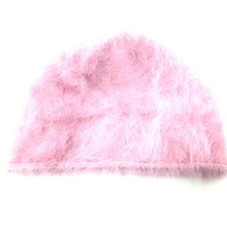 バーニーズニューヨーク(BARNEYS NEW YORK)のバーニーズ 帽子 ピンク アンゴラ(その他)