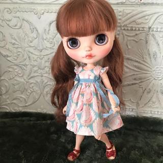 小さな袖のワンピース 56(人形)