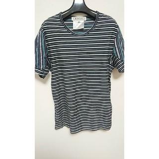 アンリアレイジ(ANREALAGE)のanrealage ランダムボーダー半袖Tシャツ1(Tシャツ/カットソー(半袖/袖なし))