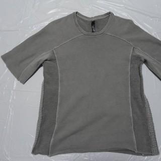 ダブルジェーケー(wjk)の高級 日本製 美品◆WJK 厚手スウェットCネック半袖Tシャツ 薄灰XL◆AKM(Tシャツ/カットソー(半袖/袖なし))