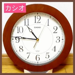 カシオ(CASIO)のカシオ 壁掛け時計アナログ 木枠(掛時計/柱時計)