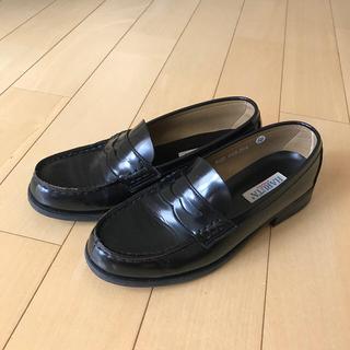 ハルタ(HARUTA)のハルタ ローファー 黒 Arvin 25.5cm EEE 日本製(その他)