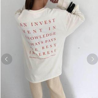トゥデイフル(TODAYFUL)のTODAYFUL バックプリントロングTシャツ(Tシャツ(長袖/七分))