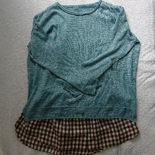 フェリシモ(FELISSIMO)のIEDIT さっと着ければ重ね着風スタイル!なんちゃってシャツ(シャツ/ブラウス(半袖/袖なし))