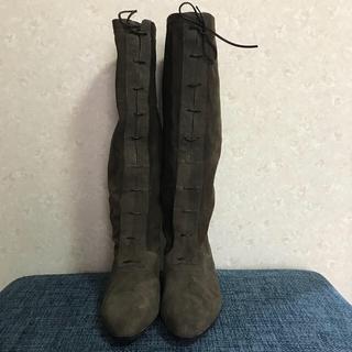 フェラガモ(Ferragamo)のSalvatore Ferragamo ロングブーツ 23センチ ブラウン(ブーツ)