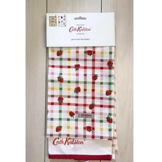 キャスキッドソン(Cath Kidston)のキャスキッドソン ティータオル いちご ストロベリー(収納/キッチン雑貨)